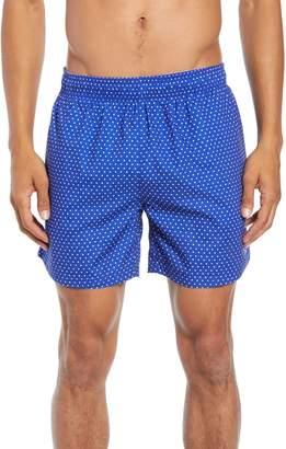 BOSS Pike Regular Fit Polka Dot Swim Shorts