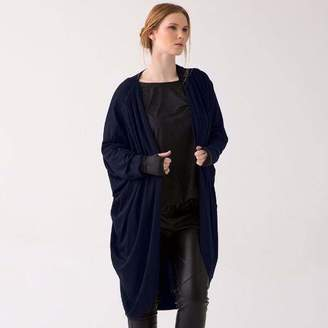 Shegul Mia Cocoon Jacket in Navy Blue Ink Size 18-26