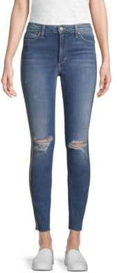 Joe's Jeans Charlie Metallic Stripe Ankle Jeans