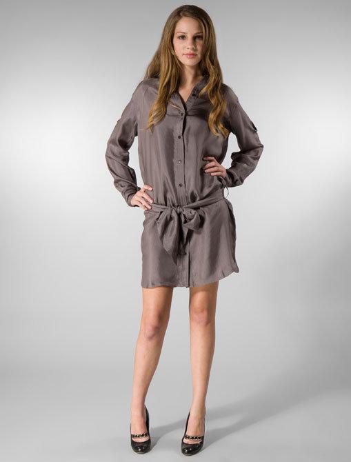 Edun Dyonisis Shirt Dress in Nightshadow