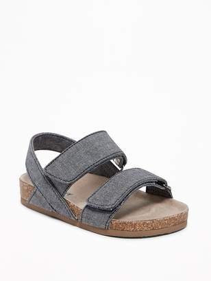 Old Navy Chambray Double-Strap Sandals for Toddler Boys