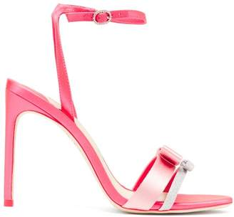 Sophia Webster Andie Bow Satin Stiletto Heels - Womens - Pink