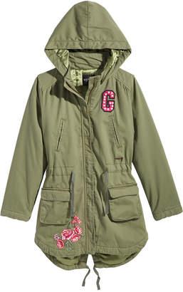 GUESS Big Girls Hooded Cargo Jacket