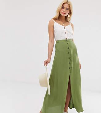 db4b05c8784 Asos Tall DESIGN Tall button front maxi skirt