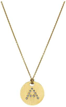 Roberto Coin Tiny Treasures 18K Yellow Gold Initial A Pendant Necklace