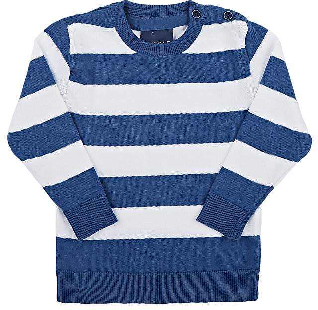 Jimmy Bravo Kids' Striped Cotton Crewneck Sweater