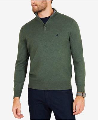 Nautica Men's Big & Tall Colorblocked Quarter-Zip Pullover