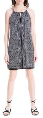 Max Studio Geometric-Print Sleeveless Shift Dress