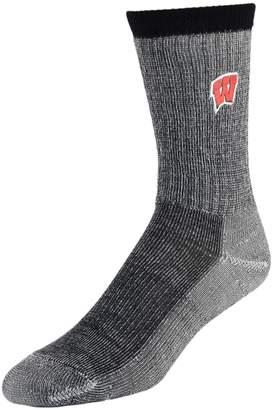 NCAA Women's Mojo Wisconsin Badgers Hiker Crew Socks