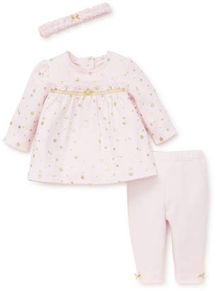Little Me Baby Girl Shimmer Stars Tunic Set with Headband