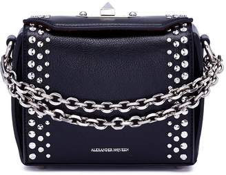 Alexander McQueen 'Box Bag 16' in faceted stud calfskin leather