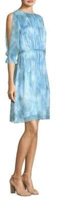 Elie Tahari Luciana Silk A-Line Dress