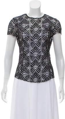 Nina Ricci Embroidered Short Sleeve Top
