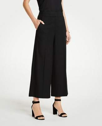 Ann Taylor The Petite Houndstooth Wide Leg Marina Pant
