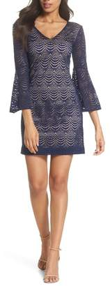 Lilly Pulitzer R) Nicoline Bell Sleeve Lace Dress