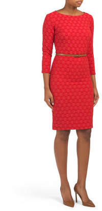 Belted Interlace Knit Dress