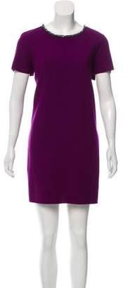Magaschoni Short Sleeve Wool Dress