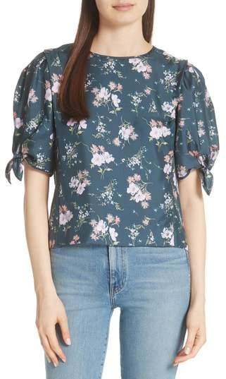 Emilia Tie Sleeve Floral Top