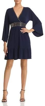 MICHAEL Michael Kors Studded V-Neck Dress