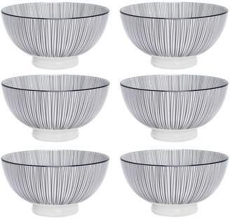 "Torre & Tagus Kiri Porcelain 4.5"" Small Bowl (Set of 6)"