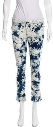 Zadig & Voltaire Tie-Dye Mid-Rise Jeans