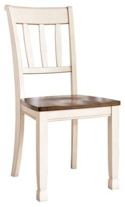 Signature Design by Ashley 2pc Whitesburg Dining Room Side Chair Cottage White