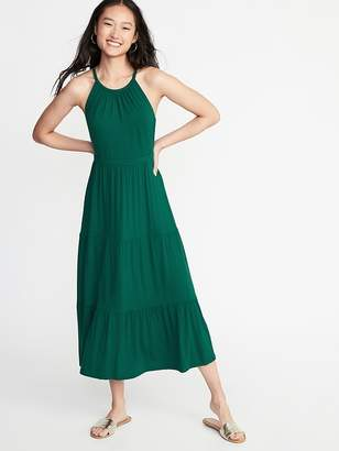 0e40da8bcf9 Old Navy High-Neck Waist-Defined Maxi Dress for Women