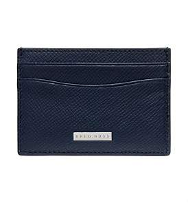 HUGO BOSS Signature Embossed Leather 4 Card Case