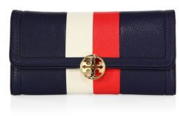 Tory Burch Tory Burch Duet Striped Continental Envelope Wallet