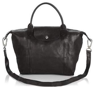 Longchamp Le Pliage Small Leather Satchel
