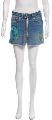 Development Embellished Denim Mini Skirt