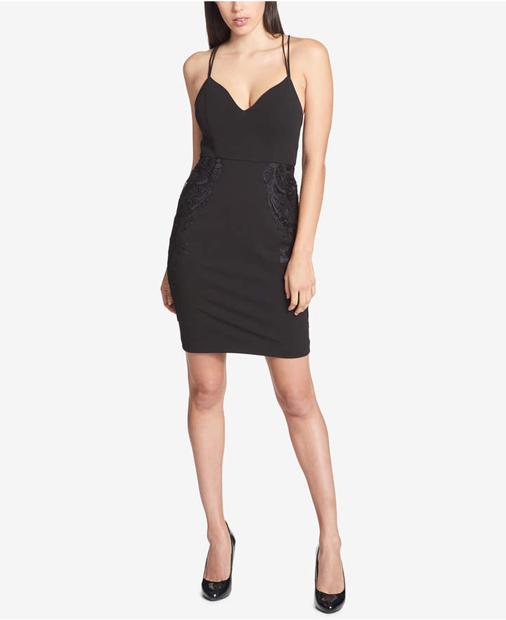 Guess Strappy-Back Lace-Detail Dress
