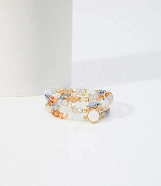 LOFT Beaded Stone Stretch Bracelet Set
