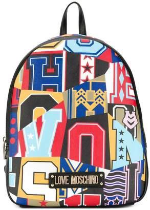 Love Moschino alphabet print backpack