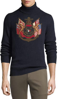 Ralph Lauren Men's Applique Embellished Cashmere Sweater