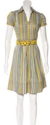 Etro Belted Short Sleeve Dress