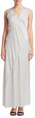Theory Relaxed Stripe Slip Dress