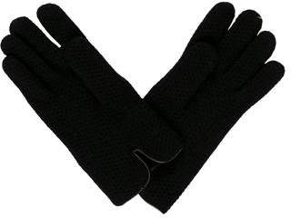 Portolano Leather-Trim Cashmere Gloves w/ Tags