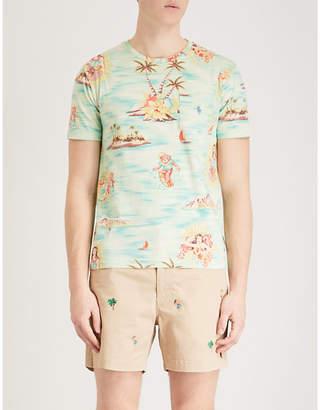 Polo Ralph Lauren Hawaiian-print cotton-jersey T-shirt