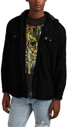 Madeworn Men's Snoop Dogg Cotton Hooded Shirt Jacket