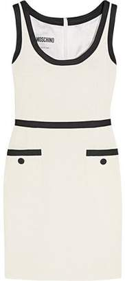 Moschino Satin Twill-Trimmed Cotton-Blend Bouclé-Tweed Mini Dress
