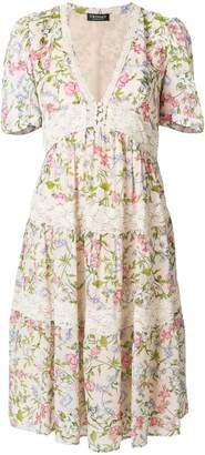 Twin-Set floral flared dress