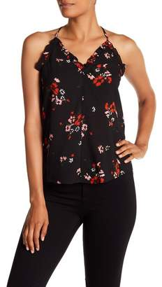 Rebecca Taylor Sleeveless Marguerite Floral Print Silk Blend Tank Top