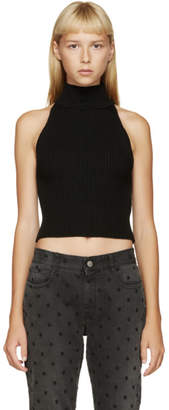 Filles a papa Black Merino Wool Halter Top