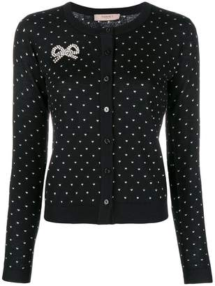 Twin-Set heart print cardigan