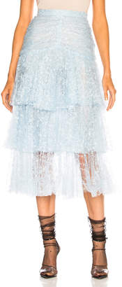 Rodarte Tulle Three Tier Ruffle Skirt