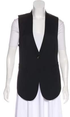 Helmut Lang Collarless Open-Back Vest