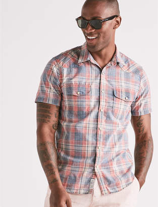 Lucky Brand Dusty Plaid Western Shirt