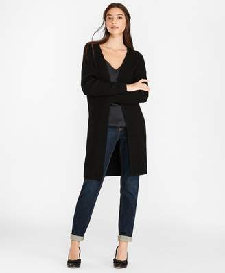 Brooks Brothers Wool-Blend Drop-Shoulder Duster Cardigan