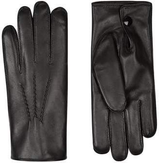 Harrods Rabbit Fur-Lined Leather Gloves